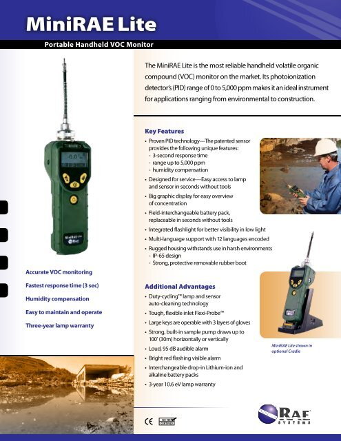 MiniRae Lite Portable Handheld VOC Monitor - Thermo Fisher