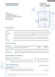 expertenpool - GFS Fundraising & Marketing GmbH
