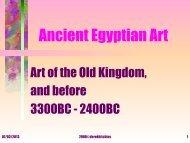 Ancient Egyptian Art.ppt - Prof's Ancient Egypt