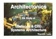 Defence & CIS Arch