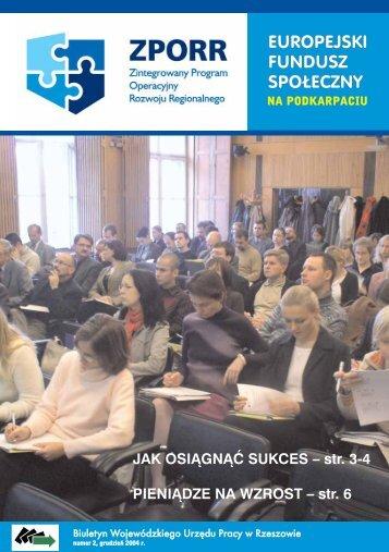 Elektorniczny Biuletyn ZPORR - Wojewódzki Urząd Pracy w ...