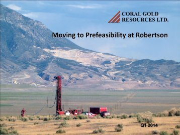 Presentation - Coral Gold Resources Ltd.