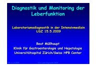 Diagnostik und Monitoring der Leberfunktion Diagnostik und ...