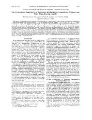 The Temperature Dependence of Relaxation Mechanisms in ...