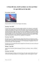 8. Reise Mit Auto, Schiff und Bahn von Ost nach West 03. April 2003 ...