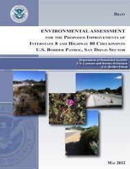environmental assessment us border patrol, san diego sector