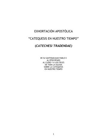exhortación apostólica - Iglesia Católica Conferencia Episcopal del ...