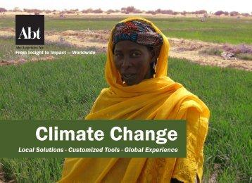 climate change practice - Abt Associates