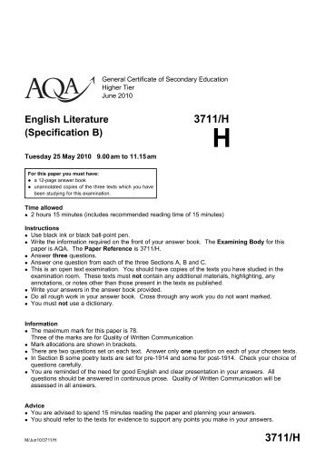 aqa psychology coursework mark scheme Mark scheme gcse english language paper 1 read again the first part of the source from lines 1 to 7 aqa english as coursework grade boundaries.