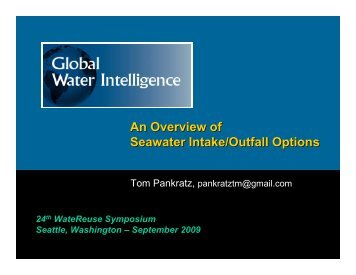 An Overview of Seawater Intake/Outfall Options