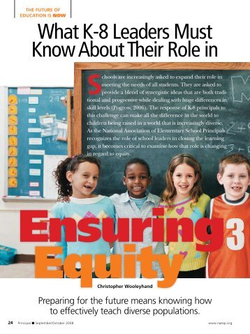 What K-8 Leaders Must Know About Their Role in - National ...