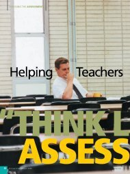 "Helping Teachers ""Think Like Assessors"" - National Association of ..."