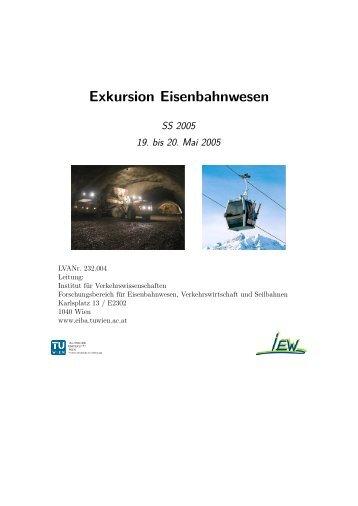 SS2005 - Institut für Eisenbahnwesen, Verkehrswirtschaft und ...