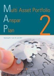 MAP Ansparplan 2 Nachtrag Nr. 1 - Amicus Innovative ...