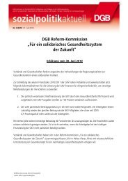 Für ein solidarisches Gesundheitssystem der Zukunft - Einblick - DGB
