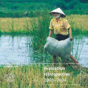 évaluation rétrospective 2003-2004 - Agence Française de ...
