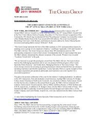 news release for immediate release the gores group announced
