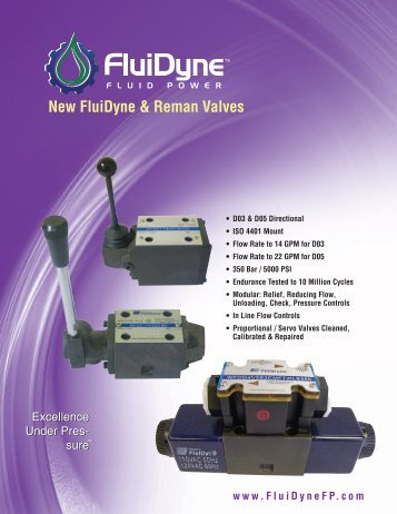 New FluiDyne & Reman Valves - FluiDyne Fluid Power