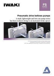 IWAKI Pneumatic drive bellows pumps FS series