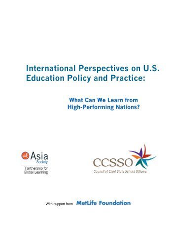 International Perspectives on U.S. Education Policy ... - Asia Society