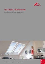 Roto Kompakt – die Basispreisliste 2 0 0 9 - Roto Dachfenster