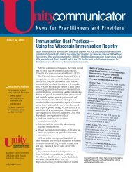 Issue 4, 2010 - Unity Health Insurance