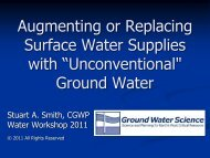 Augmenting or Replacing Surface Water with ... - Ohiowater.org