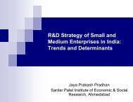 R&D Strategy of Small and Medium Enterprises in India: Trends and ...