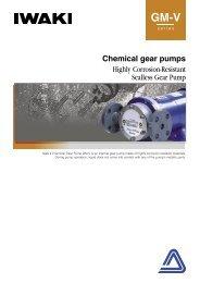 IWAKI Chemical gear pumps GM-V series