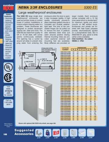 NEMA 3/3R ENCLOSURES 5300 ES - jim d gray & associates inc