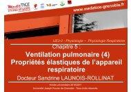 Ventilation pulmonaire - Université Virtuelle Paris 5