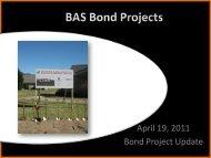 April 19, 2011 Bond Project Update - Belding Area Schools