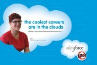 College recruiting brochure - Salesforce.com
