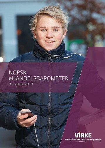 Norsk eHandelsbarometer 3 kvartal 2013