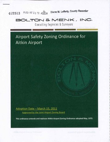 Aitkin Airport Zoning Ordinance - Aitkin County Government