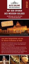 Auf den Spuren deS WeiSSen GoldeS! - Alte Saline