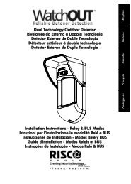 Risco WatchOUT DT Wired Outdoor Motion Sensor ... - DIYControls