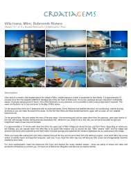 Villa Ivana, Mlini Dubrovnik Riviera - CroatiaGems