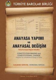anayasa yapımı anayasal değişim - Türkiye Barolar Birliği Yayınları