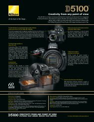Download Nikon D5100 Brochure - Vistek