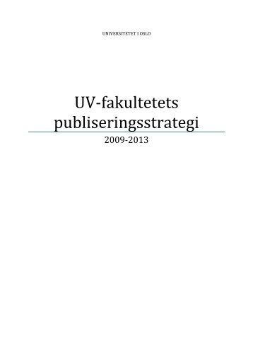 Publiseringsutvalget ved UV - Det utdanningsvitenskapelige fakultet ...