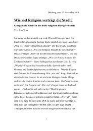 Rede von Dr. Jens Voß 27.11.2010 - Evangelischer Kirchenkreis ...