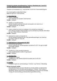 Protokoll fra ordinær generalforsamling i Turbinen I ... - Herborvi.no