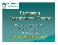 Facilitating Organizational Change - Peakinsight