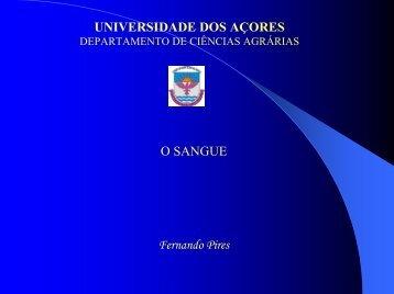 O Sangue - Universidade dos Açores