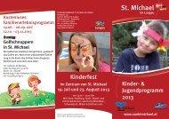 finden Sie die PDF - Datei zum Kinderprogramm!!! - St. Michael