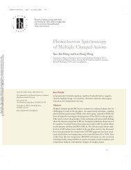 Photoelectron Spectroscopy of Multiply Charged Anions - Chemistry ...