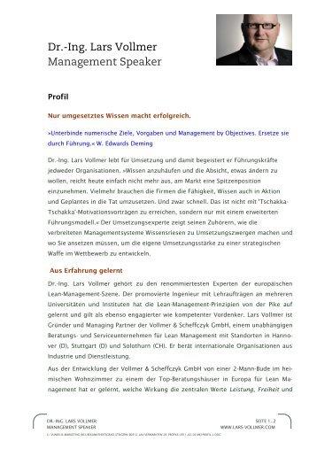Profil als PDF - Dr.-Ing. Lars Vollmer