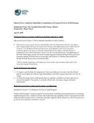 CanREA Submission on FIT Program Rules - Ontario Power ...