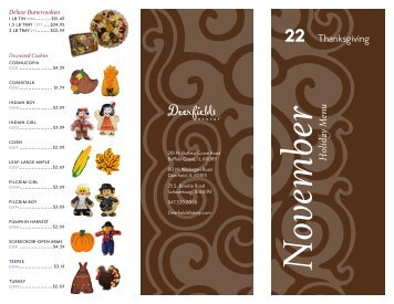 22 Thanksgiving ber Holiday Menu - Dine Here US